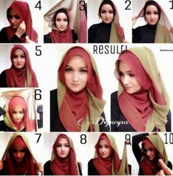 Tutorial Hijab Pashmina Sifon