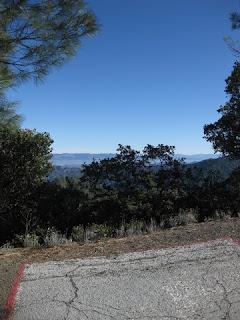 View from the White Line of Death, Mt. Umunhum Road, Santa Clara County, California