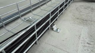 Cable Rail on Membrane Roof