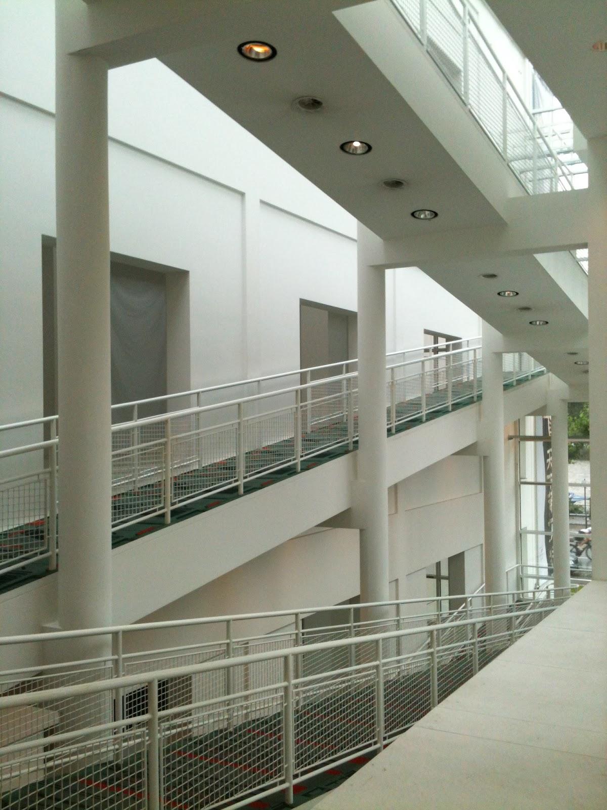 Monochromatic axonometric the ramp for Design museum frankfurt