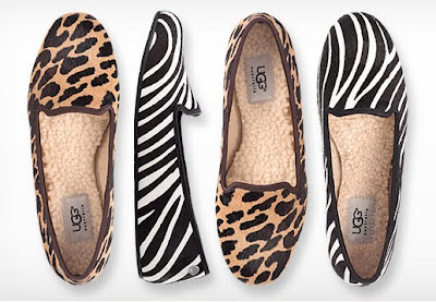 Chic Leopard Slippers, Stylish Zebra Slippers, UGG Slippers For Women