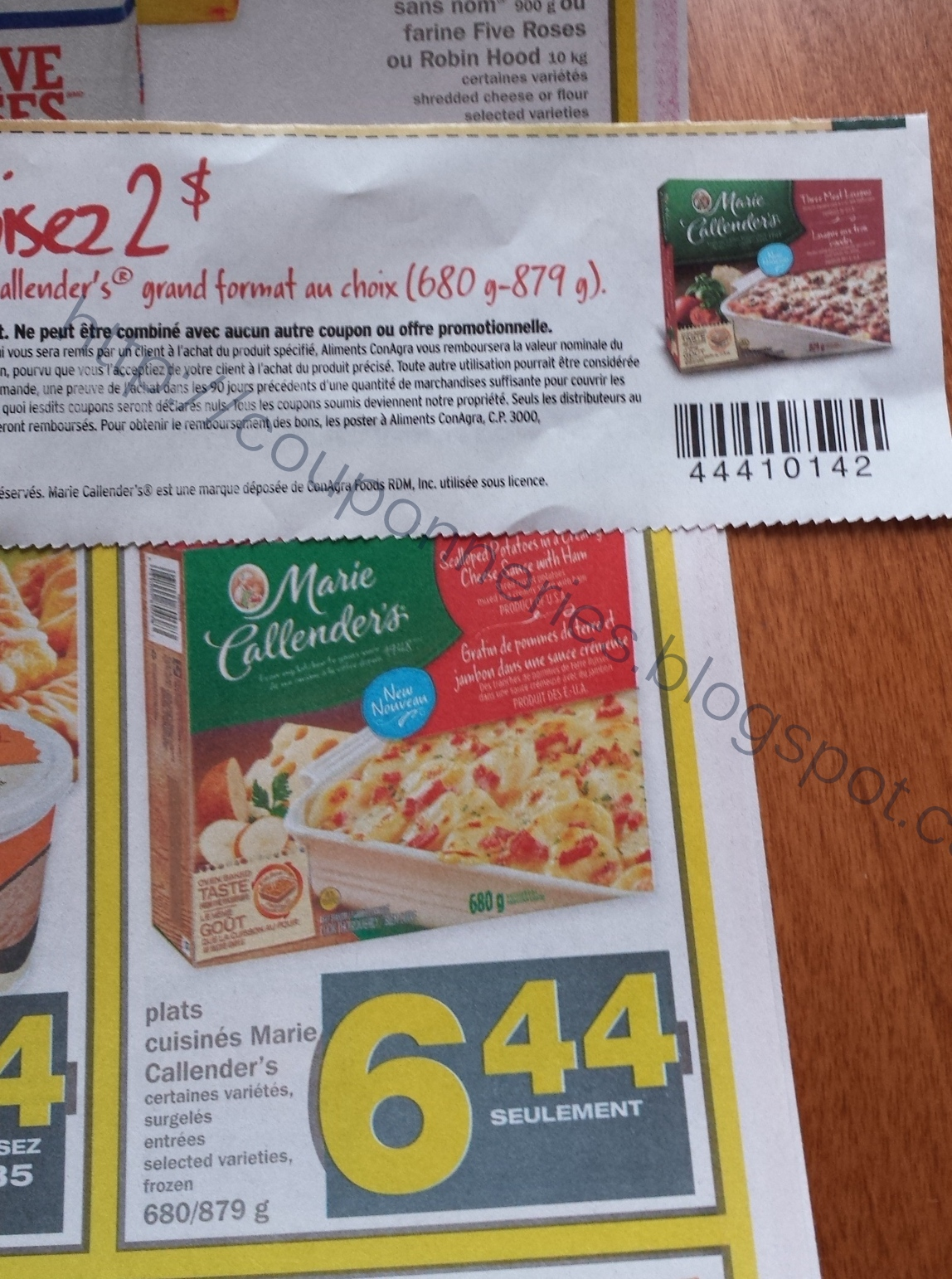 Coupons et circulaires 4 44 plats cuisin s marie for Plats cuisines marie