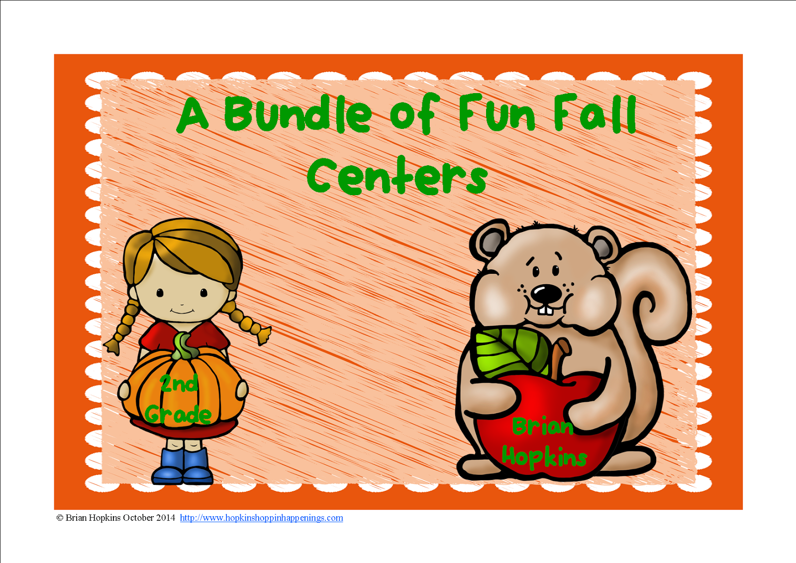 A Bundle of Fall Centers - 2nd Grade