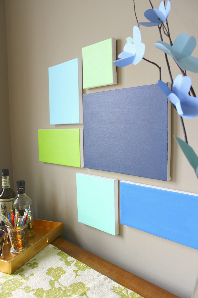 Diy canvas art design improvised for Do it yourself wall decor