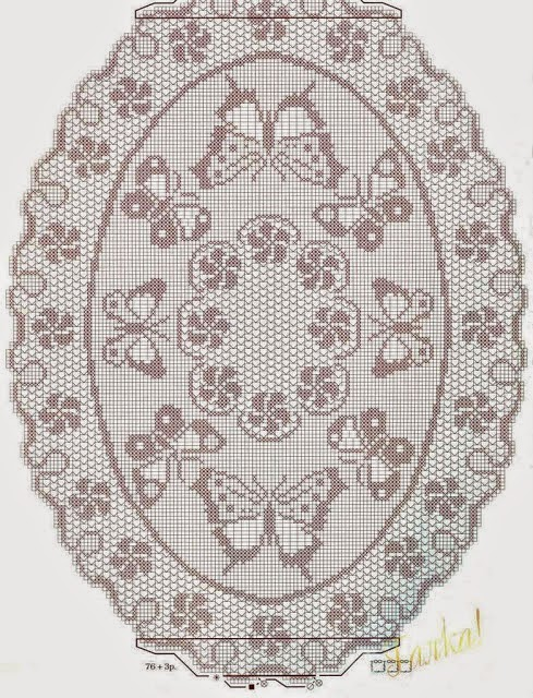 5 Patrones crochet de Centro de Mesa Ovalado | Crochet y Dos agujas