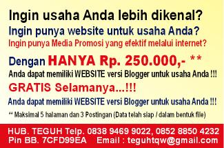 Buat Website Blogger Murah
