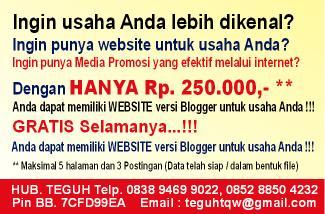 Buat Website Blogger Murah