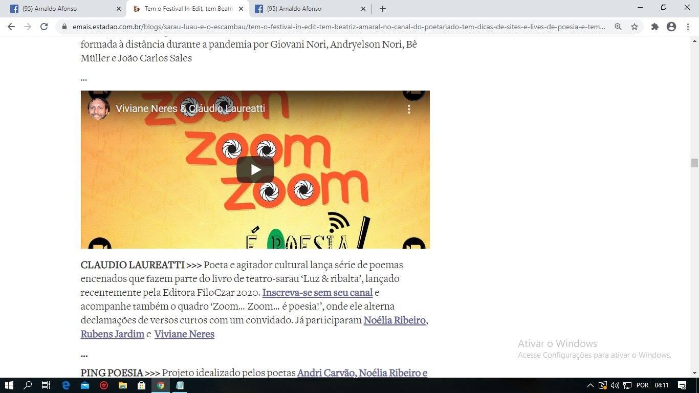 Zoom zoom zoom . . . é poesia !