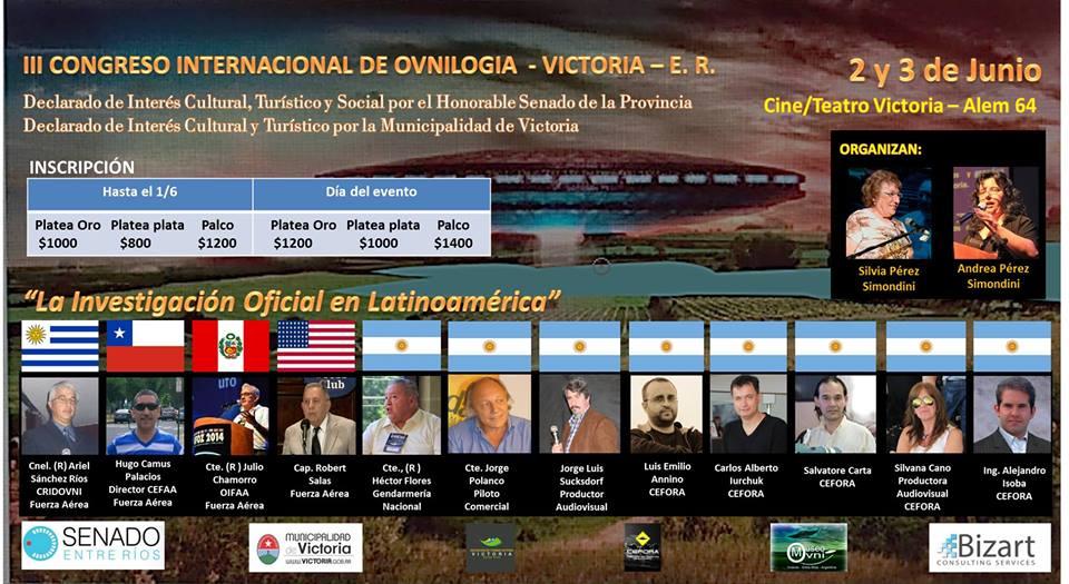 III Congreso Internacional de Ovnilogía, Victoria, Entre Ríos
