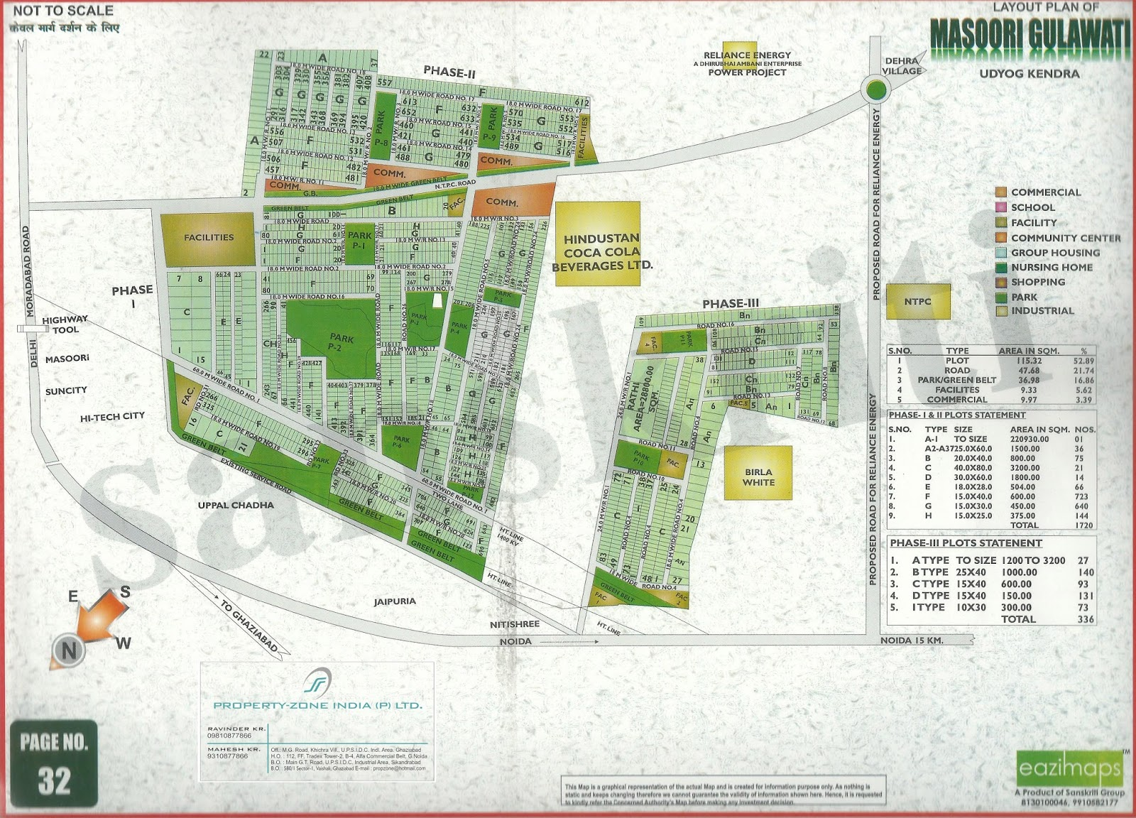 Masuri Gulawati Industrial Area Ghaziabad Layout Plan - Ghaziabad map