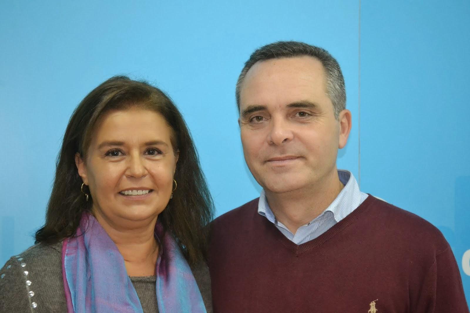 Lola Rodriguez y Juan Bueno en el Congreso de Palomares