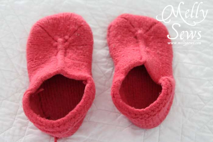 How To Sew Slippers From A Felted Sweater A Tutorial Melly Sews