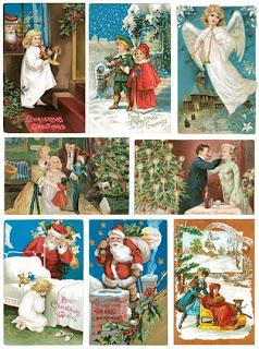 Коллекция сканов высокого качества и большого разрешения рождественских ретро открыток