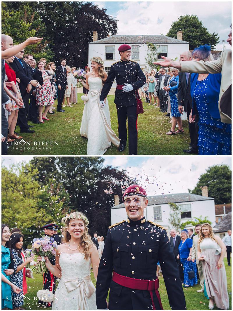 Roughmoor Farm wedding confetti throw