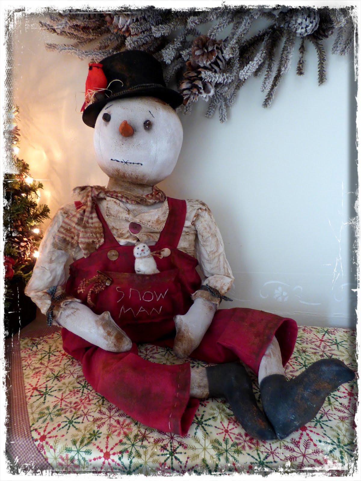 Melvin the snowman