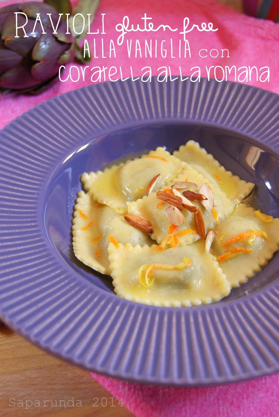 ravioli senza glutine alla vaniglia