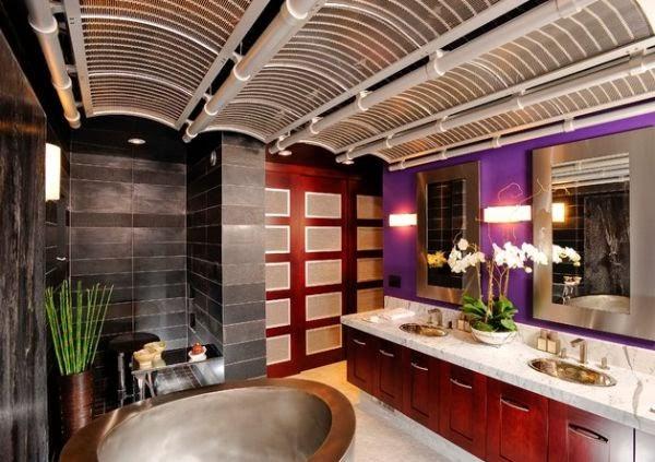 Baño De Color Rojo Fuego:Baños en estilo japonés – Colores en Casa