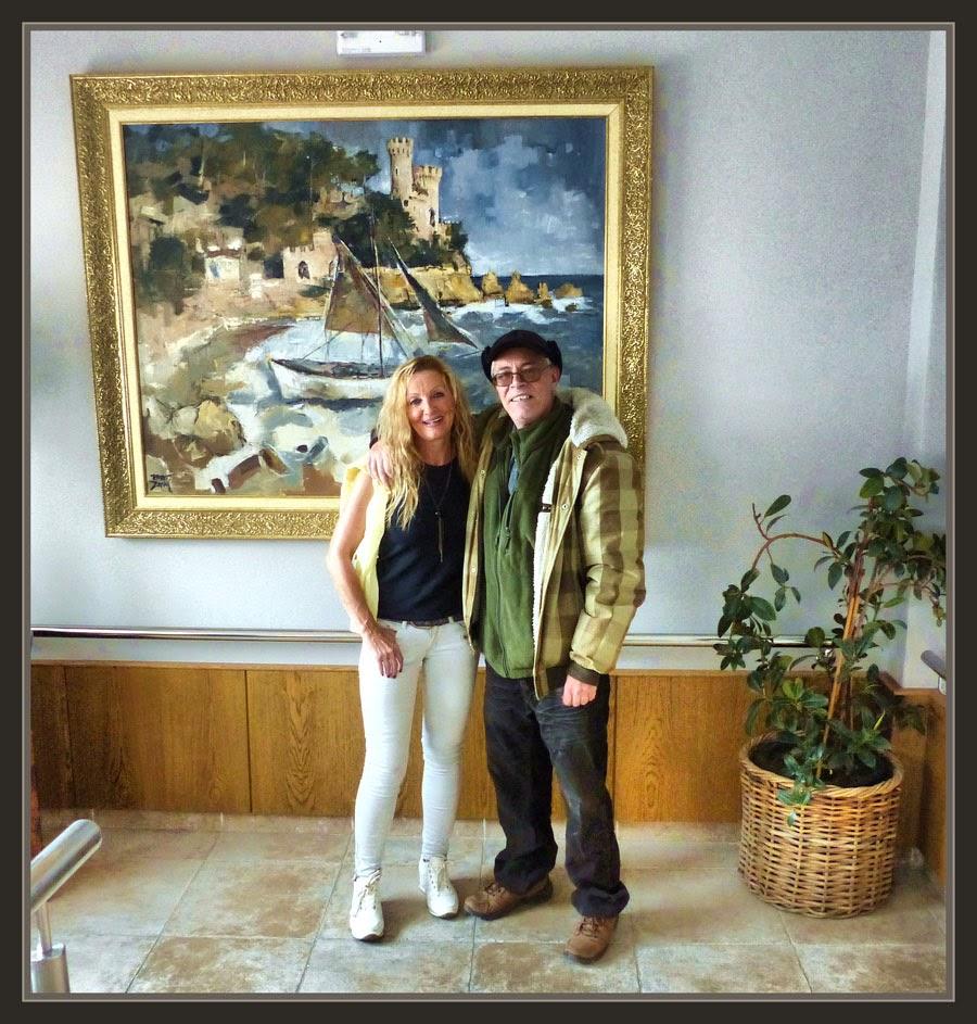 LLORET DE MAR-PINTURA-CASTILLO-CASTELL-MARINAS-HOTELES-CATALUNYA-TURISTAS-FOTOS-PINTOR-ERNEST DESCALS-