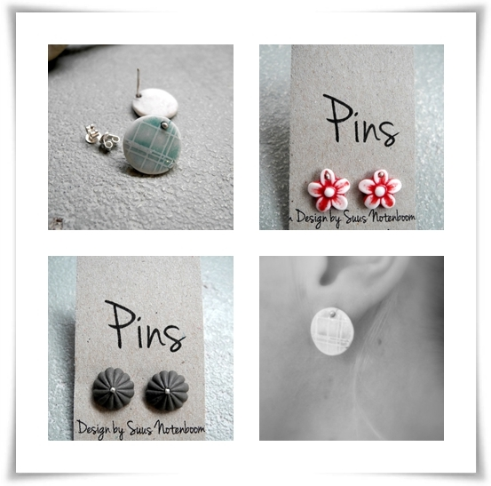 porcelain jewelry - studs
