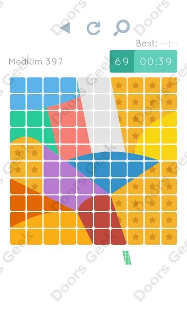 Cheats, Walkthrough for Blocks and Shapes Medium Level 397