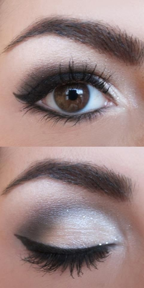 great smokey eye makeup idea for ladies