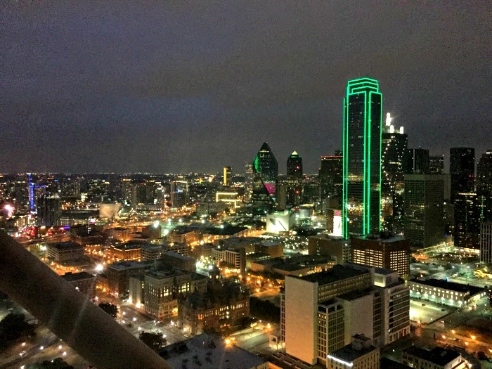 Night city view of Dallas