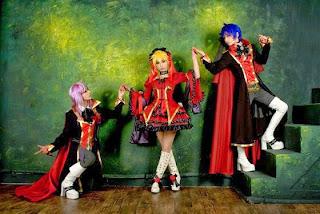Tasha-Ren-Ricu cosplay as Len-Kaito-Gakupo from Vocaloid Fate Rebirth