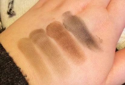 Illamasqua Precision Brow Gel Full Swatch Gallery