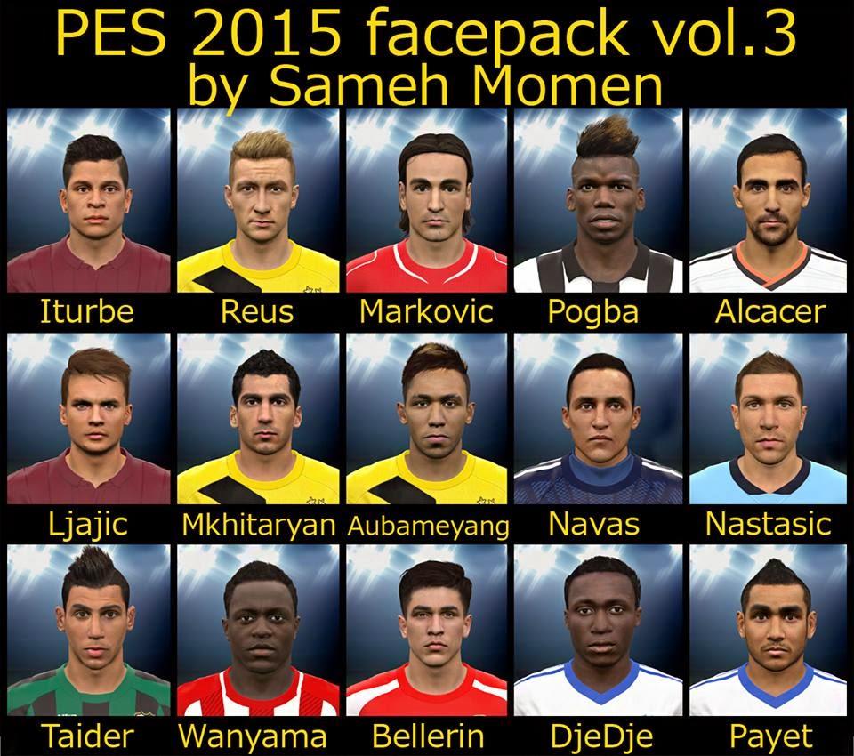 PES 2015 Facepack Terbaru 15 Faces