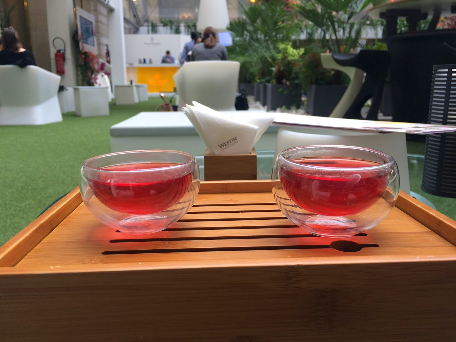 Complimentary welcome tea at The Westin, Terrasse d'Hiver, Paris