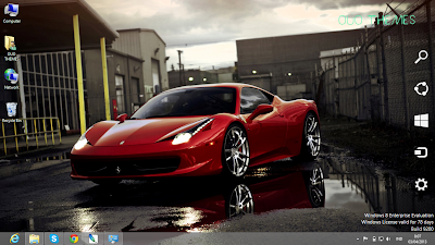 Ferrari F12 Berlinetta Theme For Windows 7 And 8