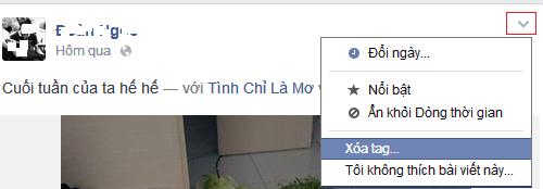 Cách gỡ bỏ (xóa) Tag ảnh, Stt trên Facebook (FB) mới nhất
