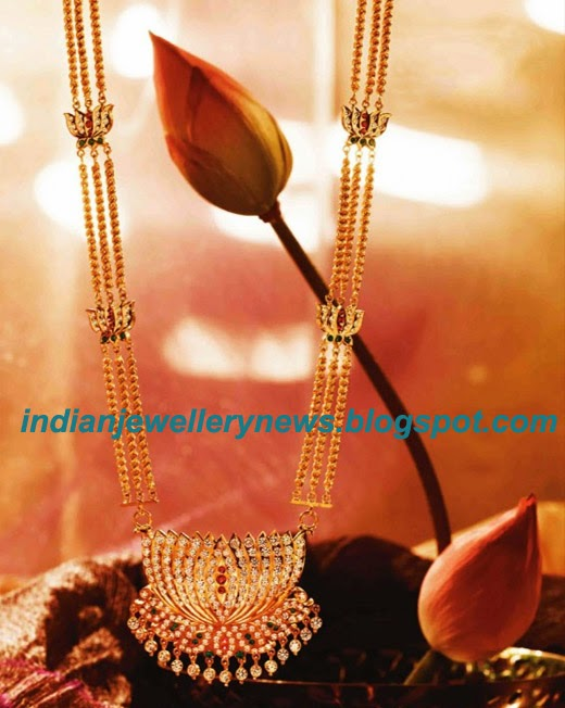 Lotus Necklace in Gold by Tanishq