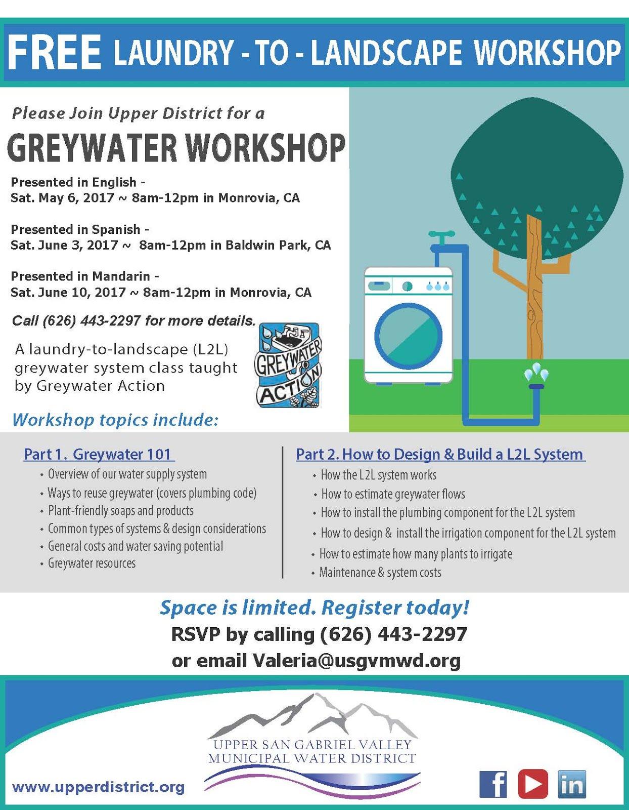 FREE Waterwise Workshops