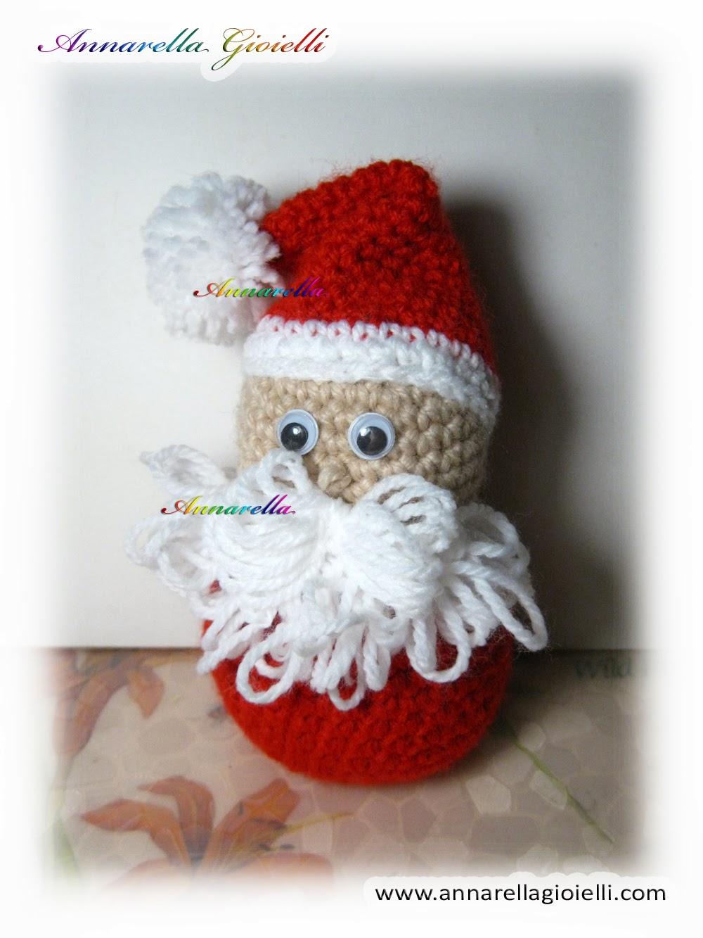 Amigurumi Tutorial Natale : Annarella Gioielli: Babbo Natale alluncinetto Amigurumi