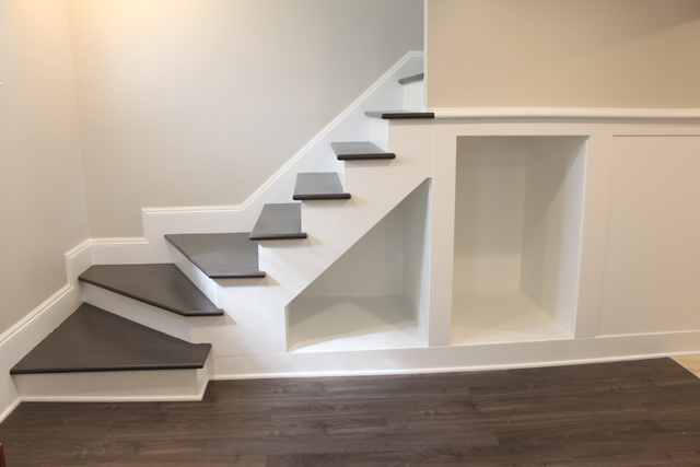 painted basement stairs. Painted Basement Stairs T