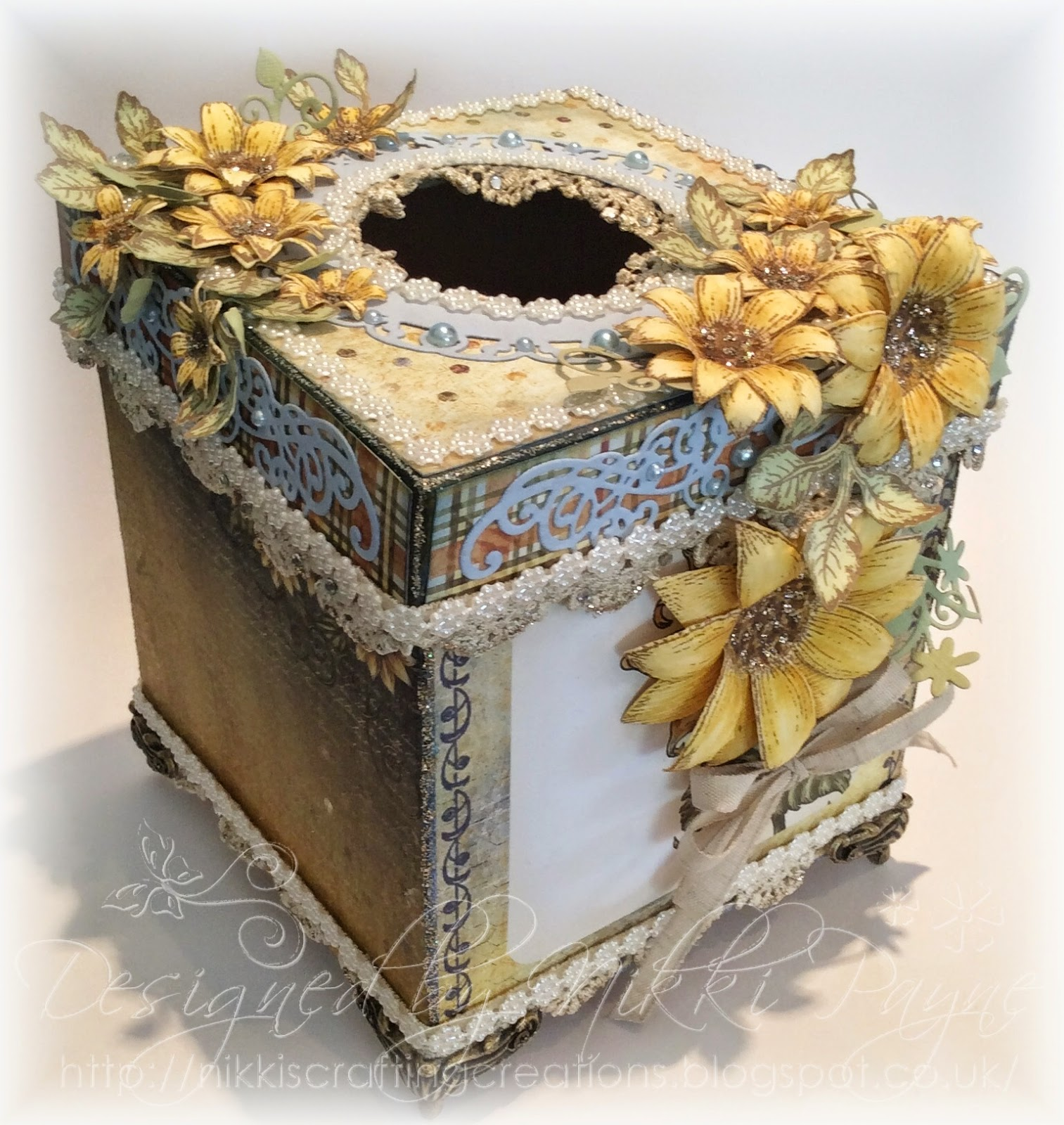 nikki 39 s crafting creations blog candy winner and sunflower tissue box inspiration. Black Bedroom Furniture Sets. Home Design Ideas