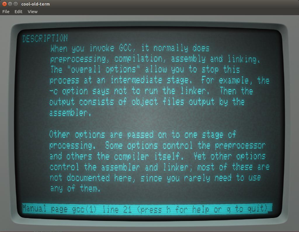 cool-old-term retro style terminal for Ubuntu 14.04