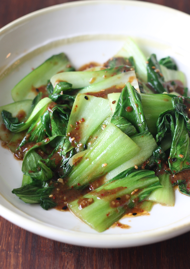 Bok Choy Stir Fry with Miso Dressing by SeasonWithSpice.com