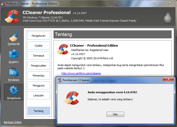 CCleaner Update Professional Plus
