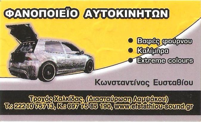 ΦΑΝΟΠΟΙΕΙΟ ΑΥΤΟΚΙΝΗΤΩΝ