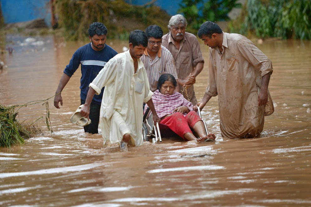 Страшное наводнение в Индии и Пакистане