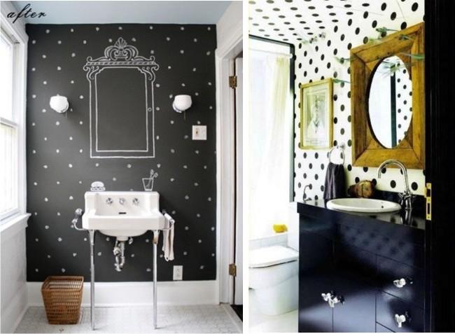 łazienka w kropki