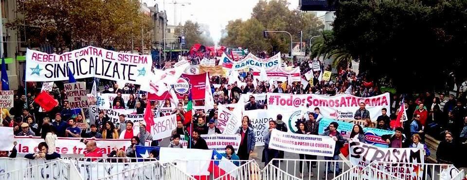 1° de mayo en Santiago de Chile. El sindicalismo independiente y su lucha por los derechos.