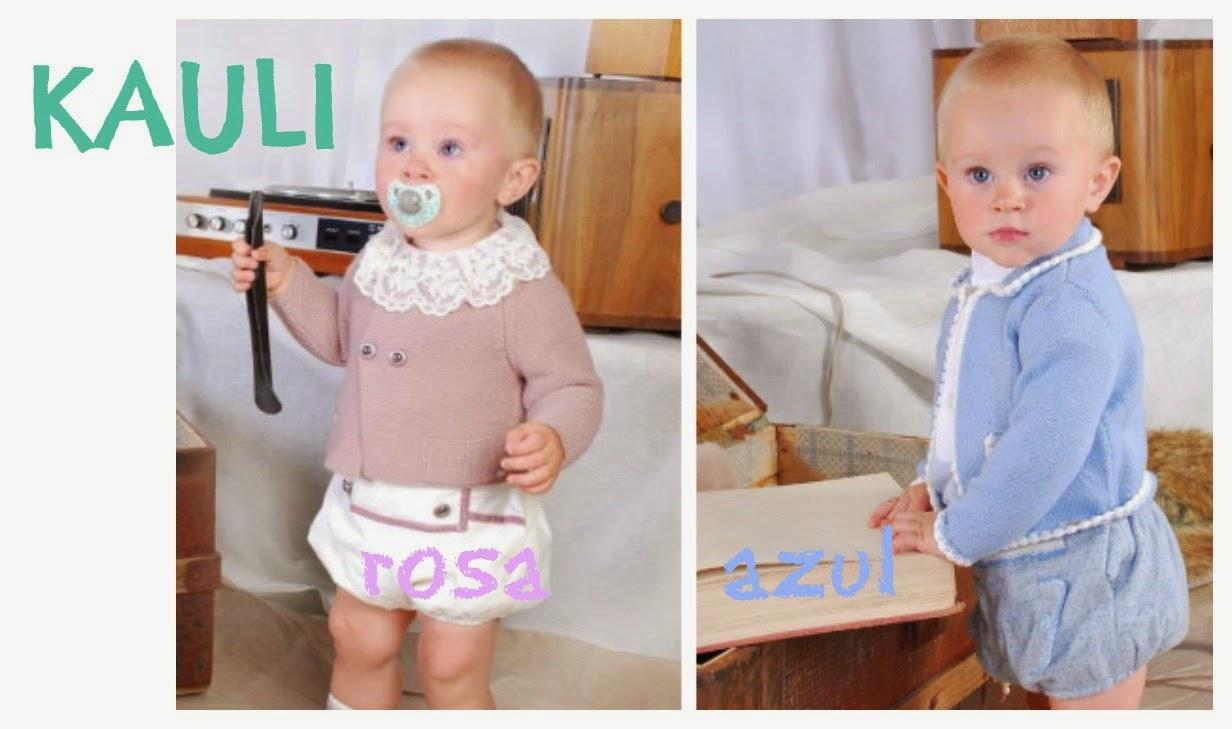 chaquetas de punto para bebes de Kauli