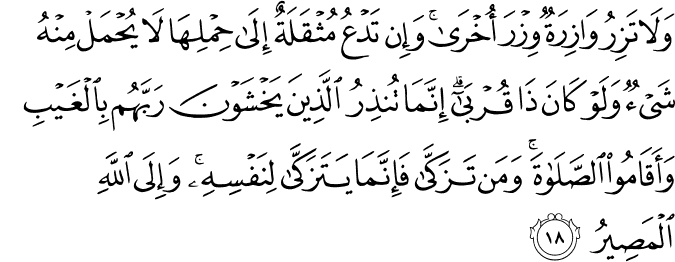 Surat Al-Fathir Ayat 18