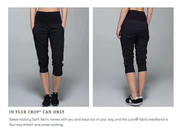 lululemon in flux crop