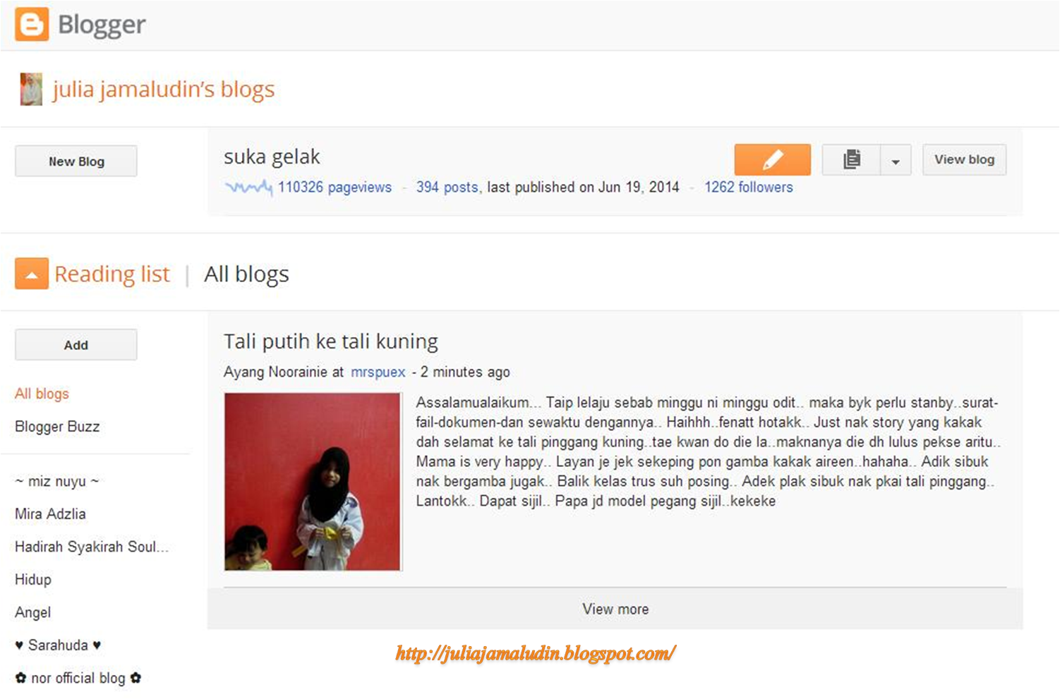 Blogspot demam eh?