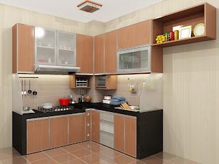 kitchen set, kitchen murah, meja beton, finishing hpl