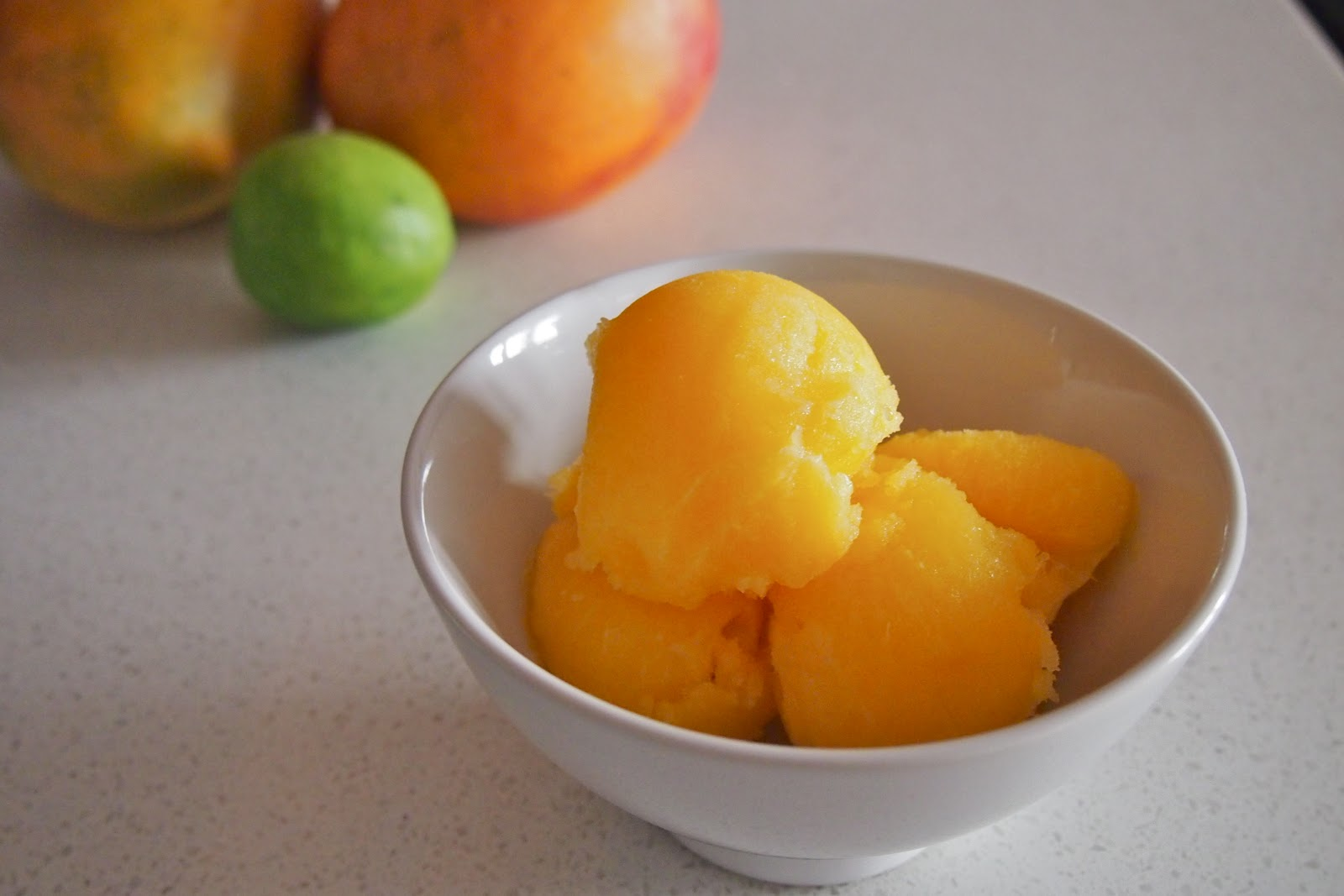 was gifted with some overripe mangoes recently so I thought they ...